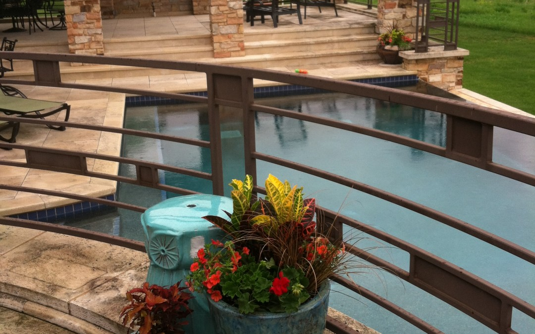 Colorful additions to a summer patio
