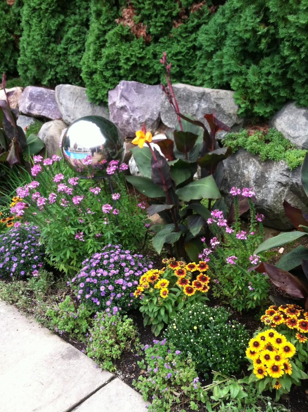 Fall Border garden