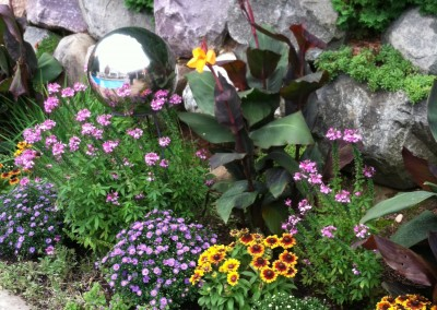 Fall Border garden