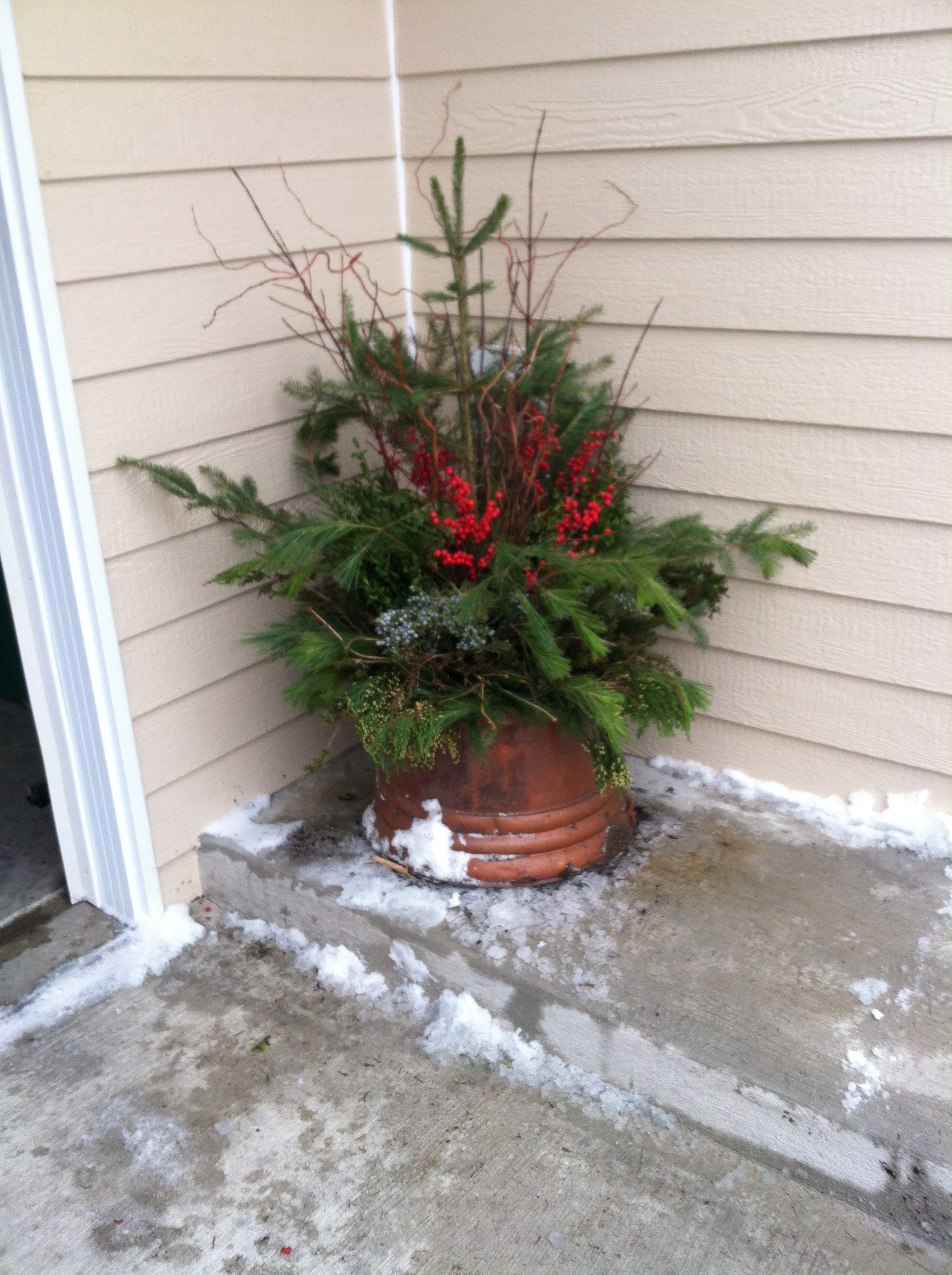 Natural winter decoration