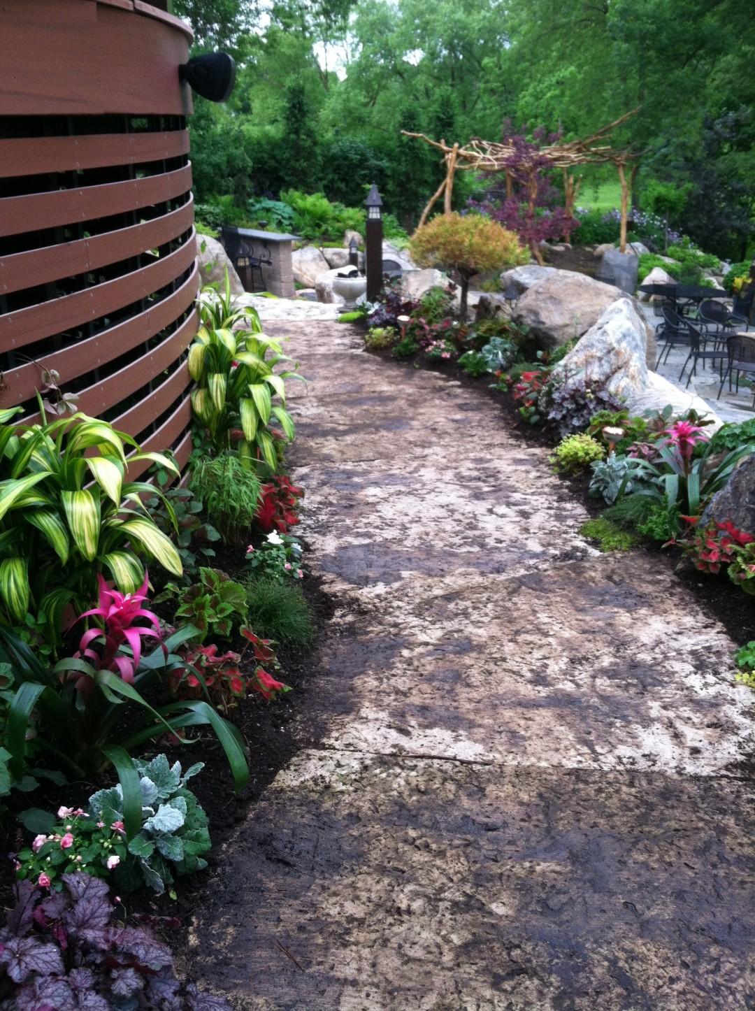 Tropical annual planting, summer 2015