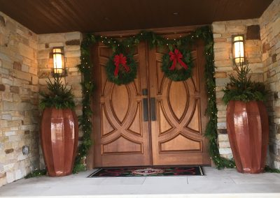 Holiday Cheer On a Large Front Entryway