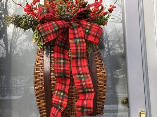 Festive Front Door Basket