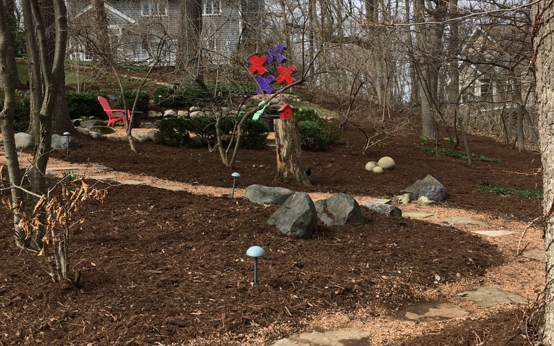 Early spring mulch job