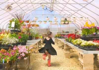 Frolic in the greenhouse!